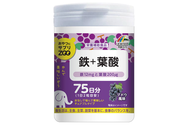 ユニマットリケン おやつサプリZOO 鉄+葉酸の評判・口コミ、効果、副作用、成分